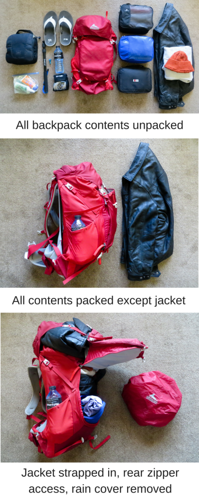 pack for 1 year of travel